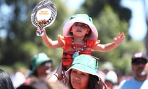 People enjoy the music at Hoani Waititi Marae to commemorate Waitangi Day in Auckland