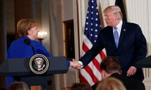 Donald Trump met Angela Merkel at the White House last week.
