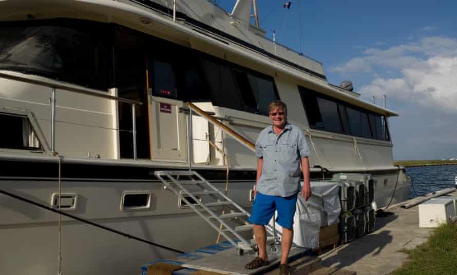 Martin Stendal poses on a boat at the Marina Hemingway, in Havana, Cuba in 21 December 2015.