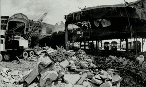The demolition of Terminal Station in 1972.
