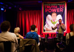 Unexpectedly charged … Jeremy Goldstein's Truth to Power Cafe.