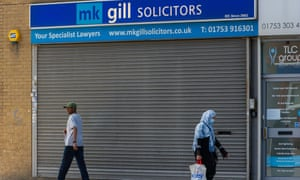 Closed branch of solicitors in Slough, Berkshire, UK.