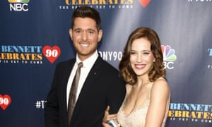 Michael Bublé and his wife, Luisana Lopilato, attend an event in New York in September 2016