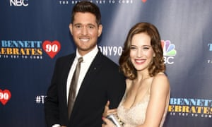 Michael Bublé and wife Luisana Lopilato in New York in September