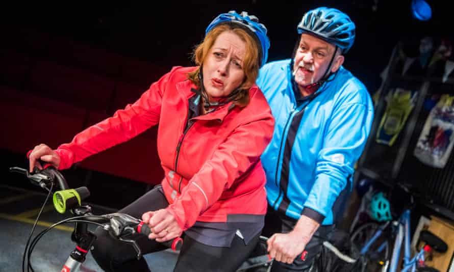 Jane Thornton and John Godber in Scary Bikers.