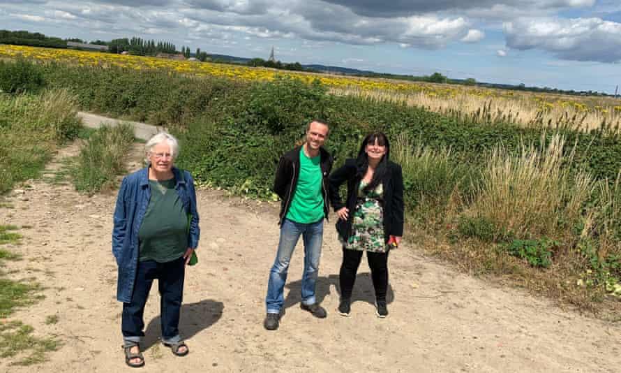 Ashford Green party representatives Liz Wright, Steve Campkin and Mandy Rossi