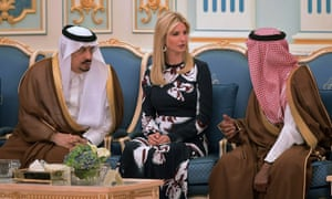 Ivanka during the Trump family's bizarre state visit to Saudi Arabia.