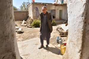 Barat, 70, at his house in Kabul