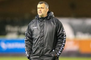 Barker during his spell as Forest Green Rovers uunder-18 manager.
