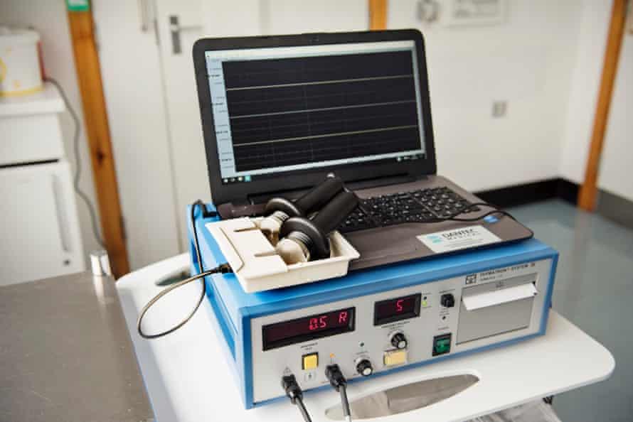An ECT machine in a treatment room.