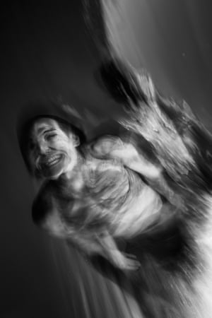 Man bodysurfing