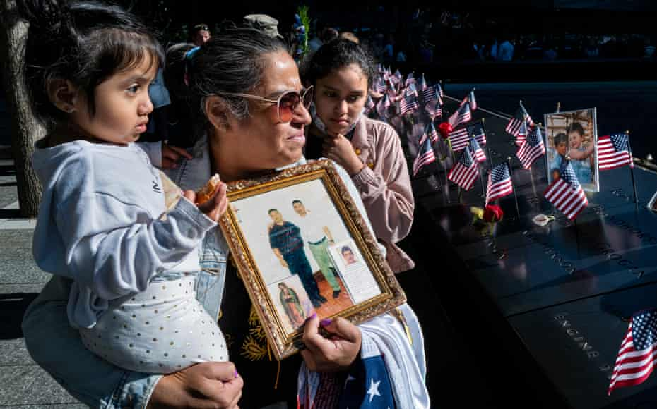 Julia Melendez holds a photo of her husband Antonio, who died working at Windows on the World restaurant during the attack.