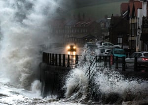 This dramatic opportunity at Sandsend in North Yorkshire was created by a combination of high tide and winds.