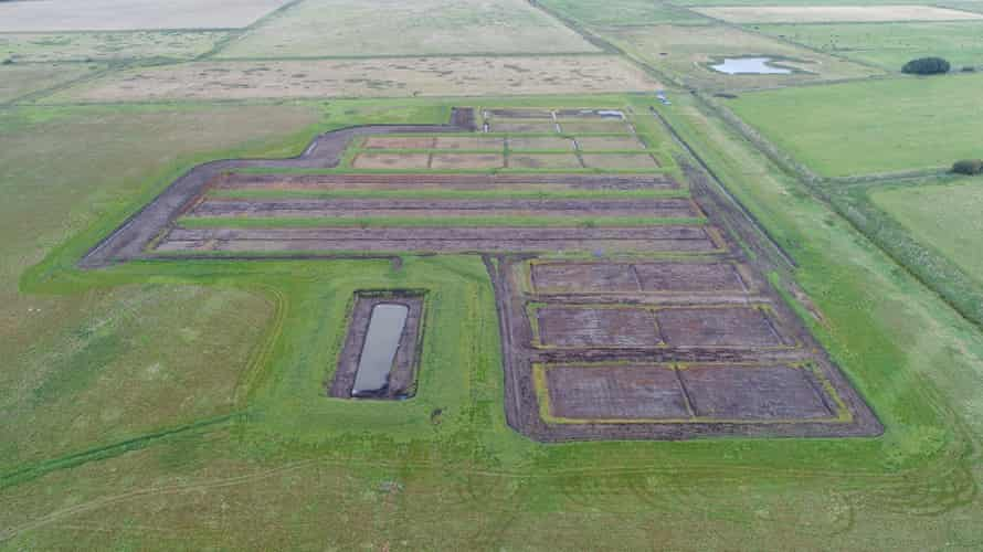 The trial site is divided into 10 bunds, which are being planted to showcase crops that can tolerate high water tables.