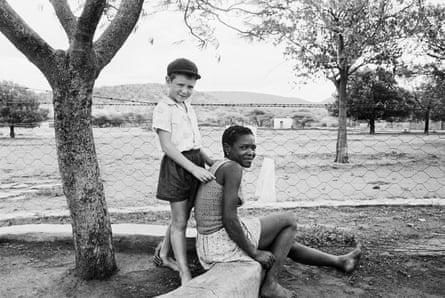 A farmer's son with his nursemaid, Heimweeberg, Nietverdiend, Western Transvaal