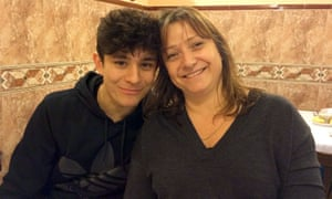 Felix Alexander with his mother, Lucy.