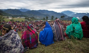Menstruating girls and women sit separately during a festival in Acham district, Nepal, in September 2017