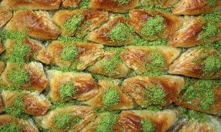 Turkish baklava.