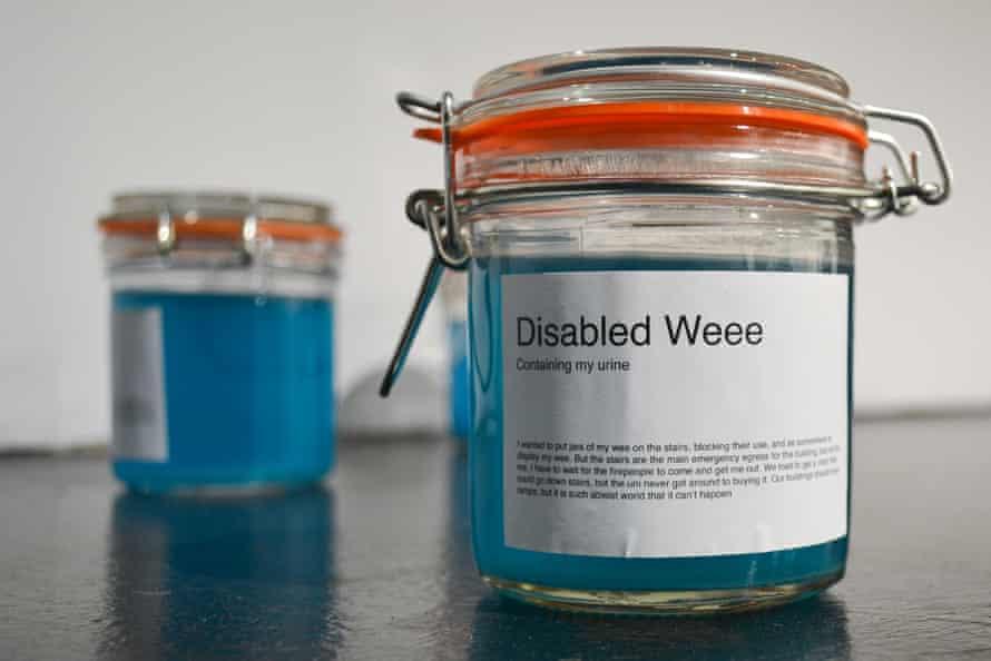 Two jars of blue liquid