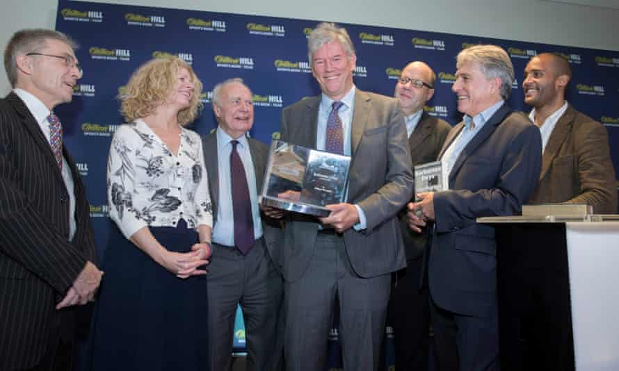 William Hill Sports Book of the Year Award winner William Finnegan with the judging panel on Thursday.