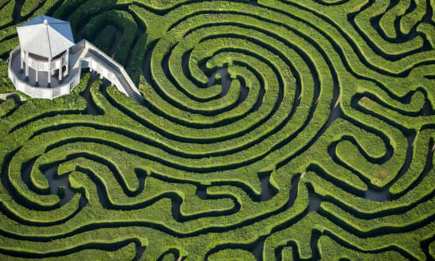 The maze at Longleat House, Wiltshire.