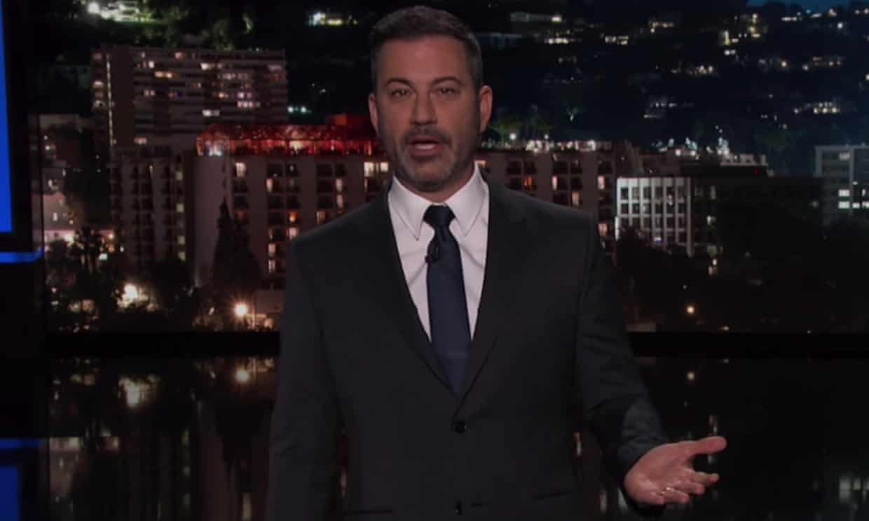 'Donald Trump claiming the media doesn't fact-check is like R Kelly calling Chris Brown a creep,' said Jimmy Kimmel.