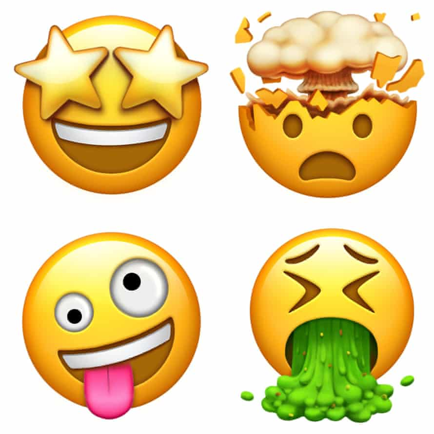 Some of the new emoji from Apple.