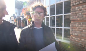 Landlord Bernard McGowan is doorstepped by ITV's Joel Hills and the Guardian's Simon Goodley