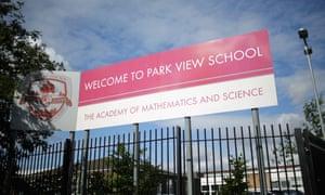 Park View school Birmingham