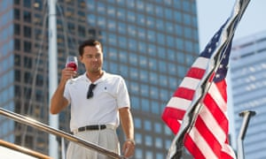 Leonardo DiCaprio as Jordan Belfort in a scene from The Wolf of Wall Street