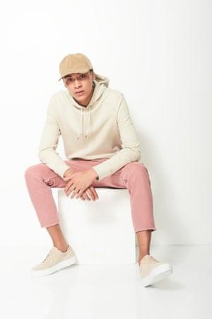 Five ways to wear: model wears hoodie
