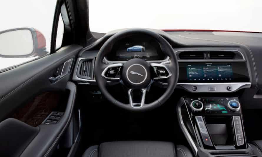 Fingertip control: the luxurious interior of the Jaguar