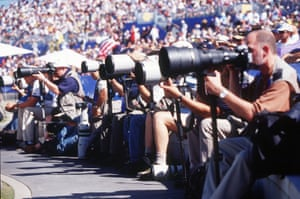 Photographers take aim as the Games progress. More than 2,000 members of the media covered the Sydney Olympics.