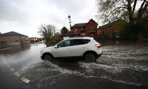 A flooded street in Fishlake, near Doncaster, on Wednesday.