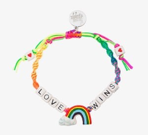 Follow the rainbowEven if you prefer your clothes to stay a sombre colour, brighten up your outfit with a joyful accessory. Venessa Arizaga's child-like bracelet is the arm-candy equivalent of a giant light box. Bracelet, Venessa Arizaga at Browns.com, £45.