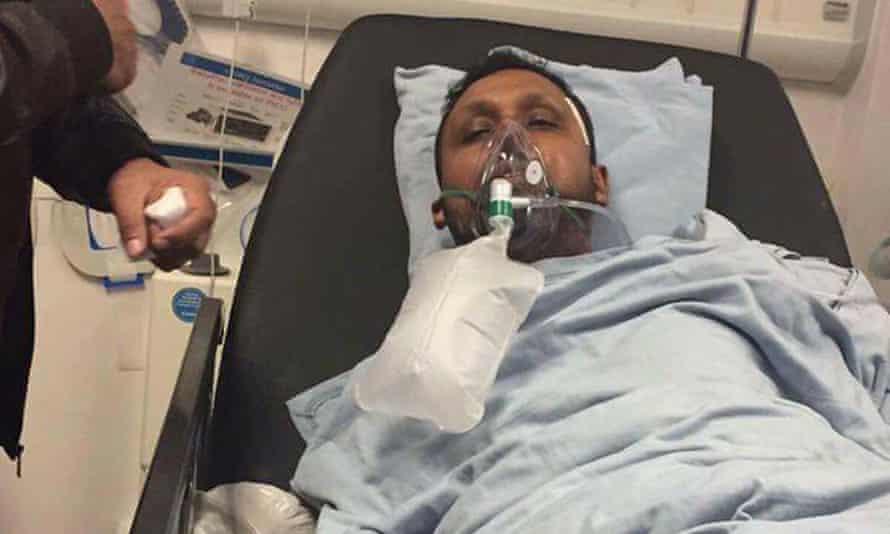 Muhammed-Askar Ali in hospital