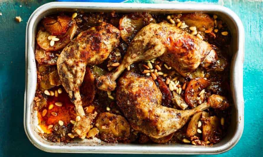 Chicken, onion and sumac casserole.