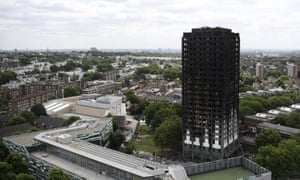 The remains of Grenfell Tower.