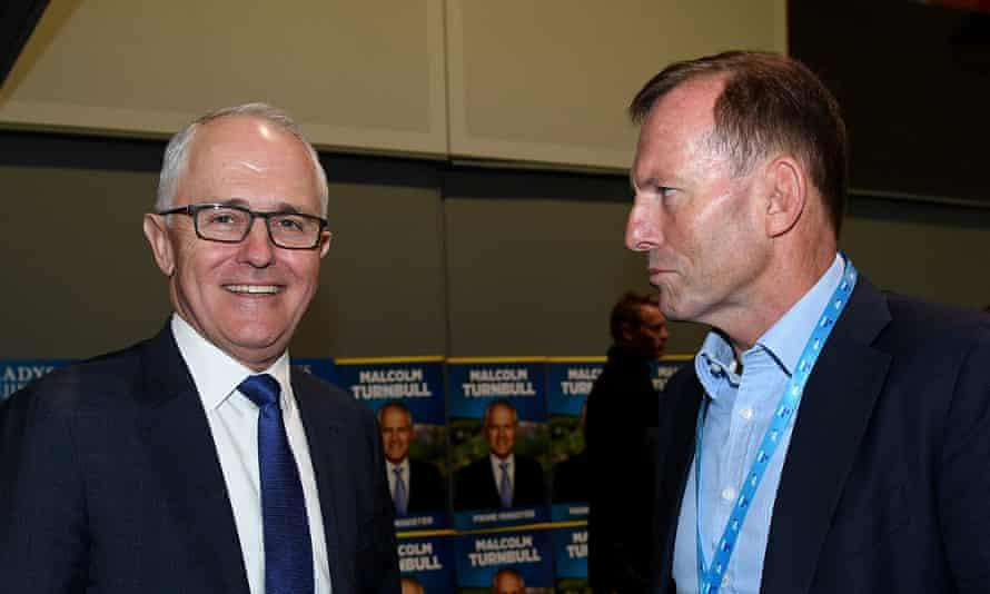 Prime Minister Malcolm Turnbull and former prime minister Tony Abbott