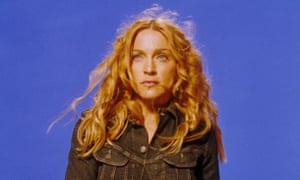 Madonna on the set of her Ray of Light video.