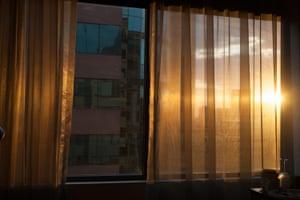 Jillian Edelstein's view from her quarantine hotel in Sydney