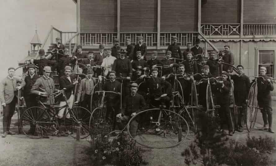 Members of a white leisure cycling group, Johannesburg Amateur Bicycling Club, 1890s.