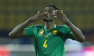 Yaya Banana opened the scoring as Cameroon began their Africa Cup of Nations with victory over Guinea-Bissau.
