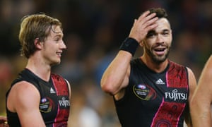 Beauty and the Beast: Darcy Parish and old-stager Ryan Crowley have a chat.