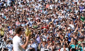 Andy Murray with the trophy