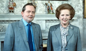 Jousting partners ... Brian Walden with Margaret Thatcher in 1984.