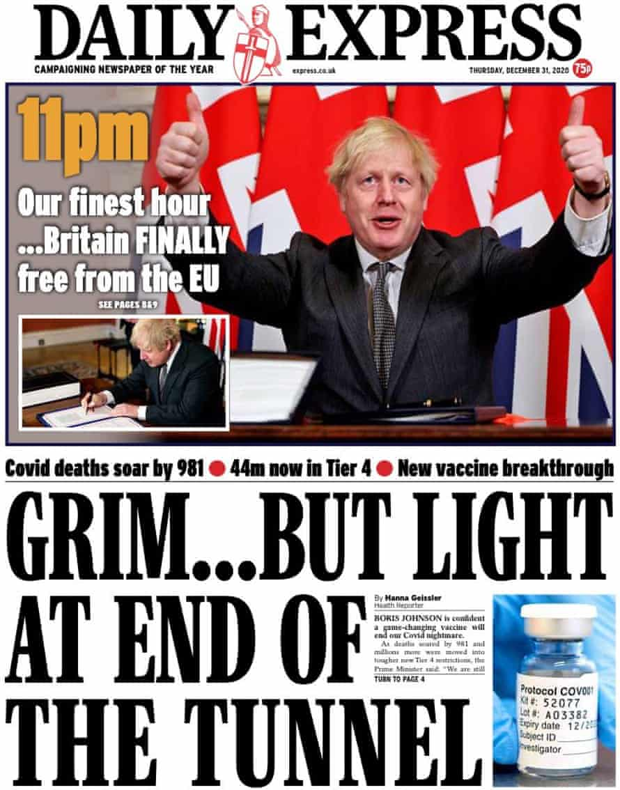 Express front page new year's eve
