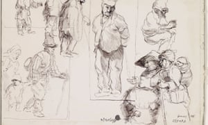 Detail from Eduardo Paolozzi's Drawings from Rembrandt.