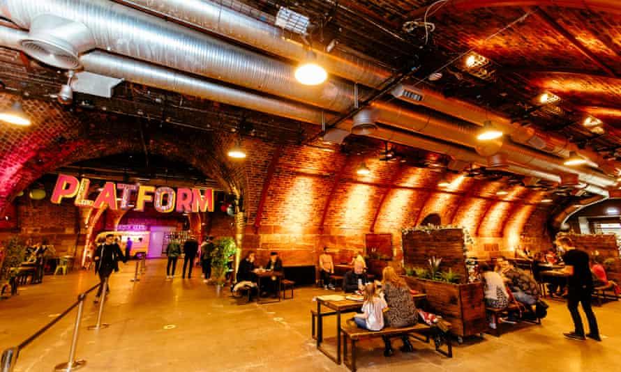 Platform food and drink venue in Glasgow, UK.