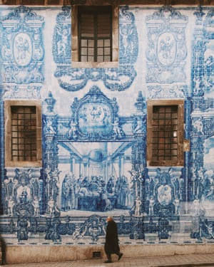 Miles of tiles. The Capela das Almas is a magnificent example of the azulejo-clad facades that dominate Porto. The golden age of the painted ceramic tile was the late 17th to early 18th century but these scenes were painted by Eduardo Leite in the early 20th century.• Follow Sam at Instagram. • Follow Guardian Travel on Instagram, use the tag #guardiantravelsnaps
